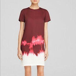 Vince Silk Shift Tie Dye Dress